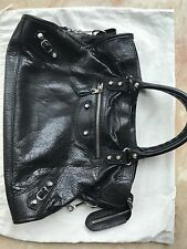 BALENCIAGA black silver hardware city bag Tasche