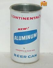 1960's CONTINENTAL CANNING CO ZIP NEW! ALUMINUM BEER CAN 12oz SAMPLE CONTAINER