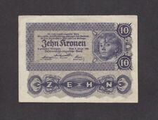 10 Kronen Very Fine Banknote From Austria 1922 Pick-75