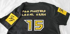 Large FOO FIGHTERS Local Crew - 2015 tour  T shirt - YELLOW & BLACK - Size: LG