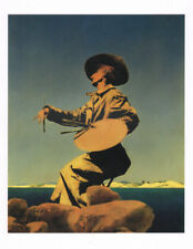 MAXFIELD PARRISH BOOK PRINT AMUSING SELF-PORTRAIT OF ARTIST W/PAINT PALETTE HAT