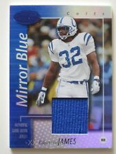 EDGERRIN JAMES 2002 Certified MIRROR BLUE Jersey Card #46/50 INDIANAPOLIS COLTS