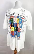 1996 Atlanta Olympics Womens Soccer Deadstock T-Shirt Autographed 42/44 large