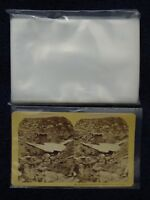 50 LARGE Stereoview SLEEVES Pack/Lot ~ Photo Archival Safe Acid Free Bag 2.5 Mil