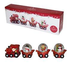 decorazione di Natale Babbo 3 NEVE globo treno / SLITTA ORNAMENTO