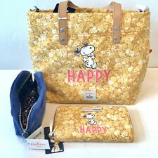 Cath Kidston Peanuts Happy Tote Bag and Yellow Purse Set