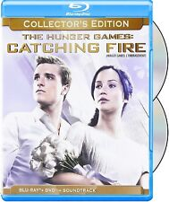 THE HUNGER GAMES: CATCHING FIRE - COLLECTOR'S ED. + SLIPCOVER *NEW BLU-RAY+DVD*