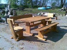 Gartenmöbel, Sitzgruppe, Eiche, 2 m, mit Stühle