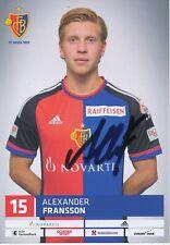 Alexander Fransson  FC Basel  Autogrammkarte original signiert 390038