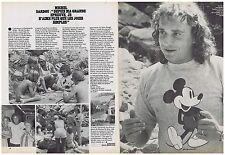 COUPURE DE PRESSE CLIPPING 1982 MICHEL SARDOU (2 pages)