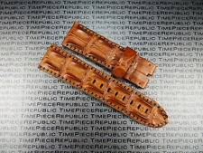 24mm Gold Brown ALLIGATOR HORNBACK Strap Leather Watch Band PANERAI PAM 1950 X