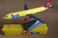 Virgin Sun Airbus A321 Airplane Miniature Model Plastic Snap Fit 1:200 Scale