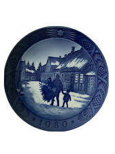 Royal Copenhagen Denmark 7� Christmas Plate 1980 Bringing Home Christmas Tree