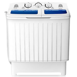 Portable Mini Compact Twin Tub Washing Machine Washer Spin Dryer 17.6lb