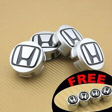 "SET OF 4 PCS SILVER LOGO WHEEL CAP HUB CENTER for HONDA US SELLER 2.25"" /58mm"