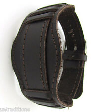 Vintage 20mm DARK BROWN 1940s CCCP WATCH BAND MILITARY Soviet Russian Leather