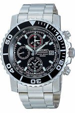 SEIKO SNA225P1,Men's chronograph,stainless steel case and bracele,100m WR,SNA225