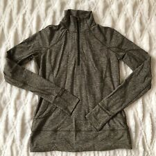 Lululemon Rush Hour 1/2 Zip Heathered Military Green