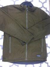 Men's REI Zip Front Shell 'Zip-In' JACKET, Size L/XL brown soft polartech
