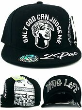 Tupac 2pac Only God Can Judge Me New Thug Life Black White Era Snapback Hat Cap