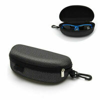 Portable Zipper Sunglasses Carry Box Case Eye Glasses Clam Hard Shell Protector~