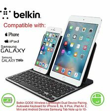 Belkin Universal QODE Wireless Dual Device Keyboard for iPhone 6 6s Plus  5 5s c