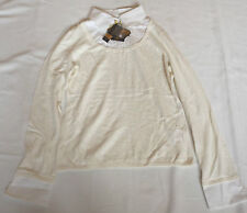 "LADIES BNWT Y LONDON LARGE WHITE SHIRT CREAM JUMPER COMBO CHEST 38"" 92cm"