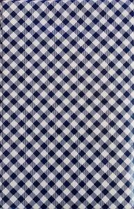 Gingham Small Check Bias Pattern (Blue) Vinyl Flannel Bk Tablecloth Var Sizes
