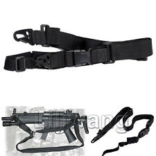 Tactical 3 Three Point Rifle Gun Sling Strap System Fr Airsoft 3 Point Gun Sling