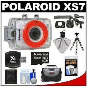 POLAROID XS7 HI-DEF SPORTS VIDEO CAMERA - Underwater and bike mounted, brand new