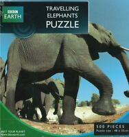 BBC Earth Travelling Elephants 500 Piece Jigsaw Puzzle New Sealed