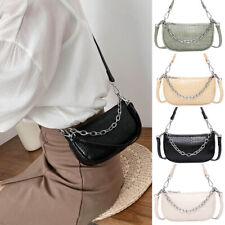 Women Chain Shoulder PU Leather Handbags Armpit Messenger Bags Stone Pattern New
