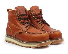 "Bonanza BA-612 Mens Light Brown 6"" Lace Up Mocc Toe Work Boots"