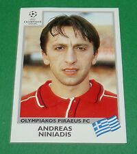 N°181 NINIADIS OLYMPIAKOS PANINI FOOTBALL CHAMPIONS LEAGUE 1999-2000