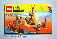 Lego The Lone Ranger 79107 Comanche Camp - INSTRUCTION BOOK ONLY - No Lego