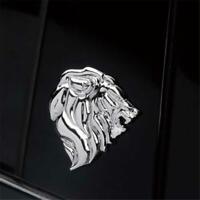 1pc 3D Car Sticker Badge Metal Lion Head Decal Emblem Peugeot New SL