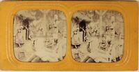 Scena Da Genere Letteraria Foto Stereo PL54L3n4 Diorama Vintage Albumina c1865