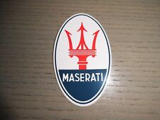 Aufkleber Sticker MASERATI oval mit Tridente Original Neu Official  Decal N2