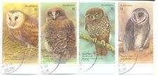 Australia Owls Postal Stamps