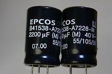 10pcs electrolytic 2200uF 40V 35V 25V LL Low ESR, ESL 105C B41538-A7228M  EPCOS
