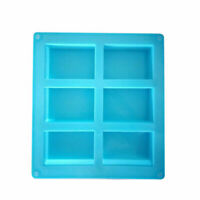Rectangle Soap Mold Silicone Craft DIY Making Kitchen Homemade Cake Mould
