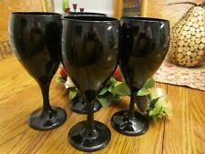 Midnight Black Sexy  Wine Stemware  (4) GA-16
