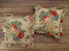 Ralph Lauren South Hampton Beach Throw Pillow Lot Of Two Floral