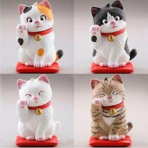 Maneki Neko Lucky Beckoning Cat Figure Japanese Gashapon 1 Random Toy