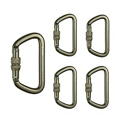 Fusion Climb Military Tactical Edition Aluminum Screw Gate 5-Pack Made In Usa