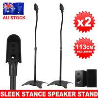2X PA Studio Monitor Speaker Steel Floor Stand Speaker Stands Height Adjustable