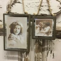 Industrial Urban Loft Photo Frame Metal Edge Clip Hanging Vintage Retro Glass