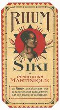 1930's Rhum Siki Rum Label - Martinique