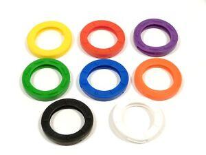 Rema 8 Schlüsselkappen rund Ø ca 29 mm  farblich sortiert - Kennringe - 801200