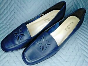Van Dal Navy Slip On Small Wedge Heeled Shoes VERONA IV Size 6½ D Worn Once